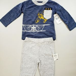 12 Mo. Boy Matching Outfit Long Sleeve & Sweatpant